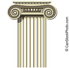 Ionic Column - Illustration of a Greek Ionic Column.