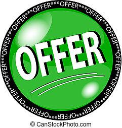 green offer button