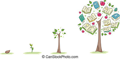 Illustration of a Growing Tree Used to Symbolize the Growth of Education
