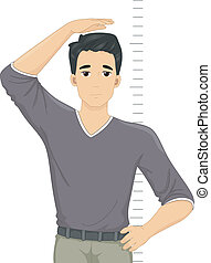 Illustration of a Guy Despairing Over His Height