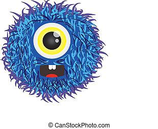 illustration of a hairy alien