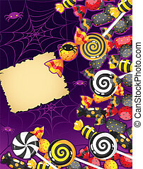 Halloween candy card