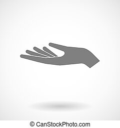 Illustration of a hand offering