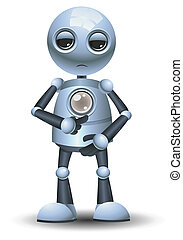 little robot ask to refill energy - illustration of a happy...