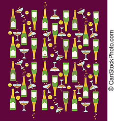 happy face icon party pattern theme
