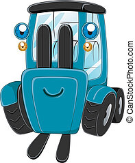 Illustration of a Happy Forklift