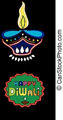 illustration of a happy indian greeting  card