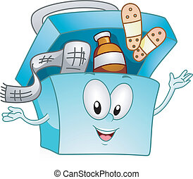 Medicine Kit - Illustration of a Happy Medicine Kit
