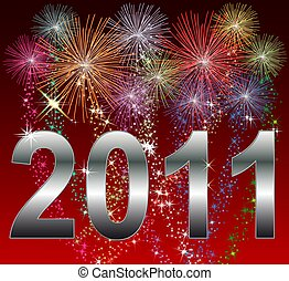 Illustration of a Happy New Year 2011 Background