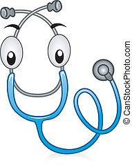 Stethoscope - Illustration of a Happy Stethoscope