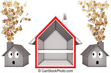 heat insulation - illustration of a heat insulation concept