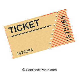 ticket - illustration of a historic or old ticket
