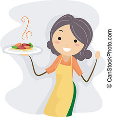 Illustration of a Homemade Dish