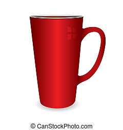 Illustration of a hot drinks cup that coule be filled with coffee or tea