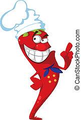 illustration of a hot pepper cook