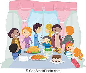 Housewarming - Illustration of a Housewarming Party
