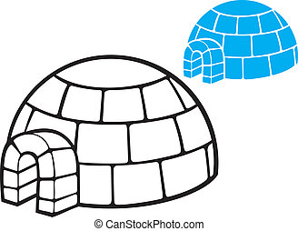 illustration of a igloo (cartoon vector illustration of a ...