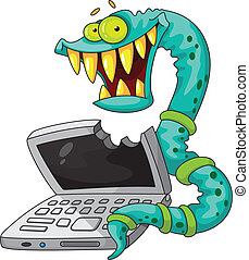 IT worm - illustration of a IT worm
