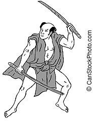 Japanese Samurai warrior