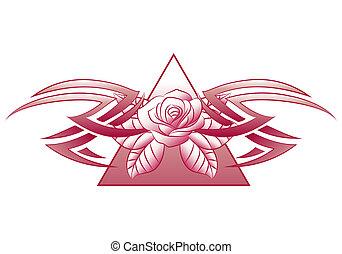 jewelery flower tattoo - illustration of a jewelery flower...