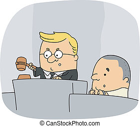 Judge - Illustration of a Judge at Work