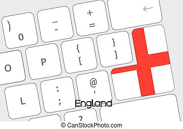 Keyboard with the Enter button being the Flag of England