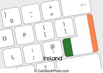 Keyboard with the Enter button being the Flag of Ireland