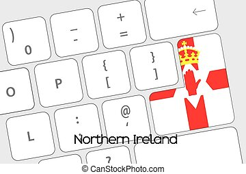 Keyboard with the Enter button being the Flag of Northern Ireland