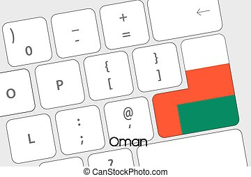 Keyboard with the Enter button being the Flag of Oman