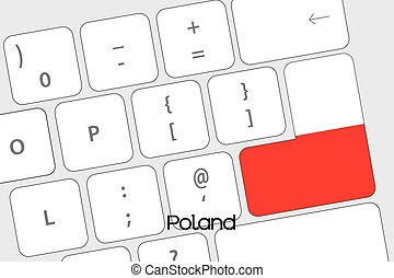 Keyboard with the Enter button being the Flag of Poland