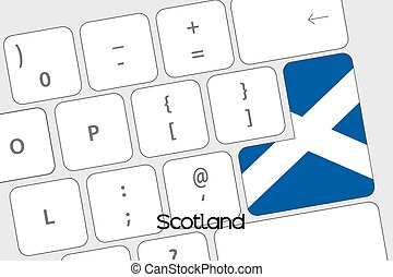 Keyboard with the Enter button being the Flag of Scotland