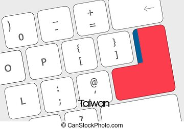 Keyboard with the Enter button being the Flag of Taiwan