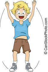 Jumping Jack - Illustration of a Kid Doing Jumping Jacks