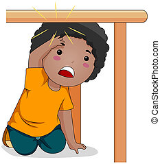 Bump - Illustration of a Kid Who Bumped His Head