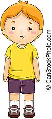 Black Eye - Illustration of a Kid with a Black Eye
