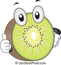 Kiwi Mascot - Illustration of a Kiwi Mascot Giving a Thumbs...