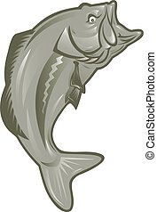 largemouth bass fish - illustration of a largemouth bass...