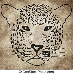 Illustration of a leopard