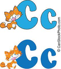 letter C cat