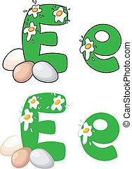 letter E egg