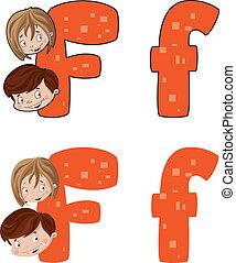 letter F face