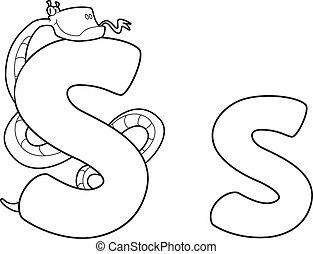letter S snake outlined