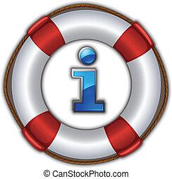 lifesaver floating