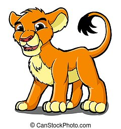 lion - illustration of a lion kids are cute and adorable