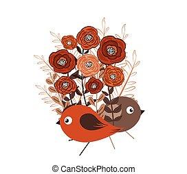 illustration of a little bird