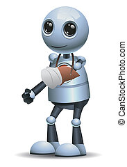 little robot broken hand injury