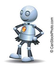 little robot emotion in pleasant - illustration of a little...