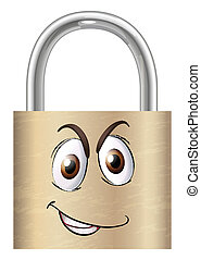 a lock with face