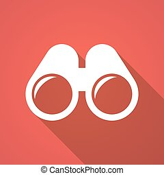 binoculars icon - Illustration of a long shadow binoculars...