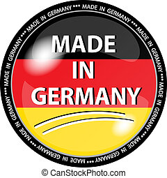 made in germany button - illustration of a made in germany...